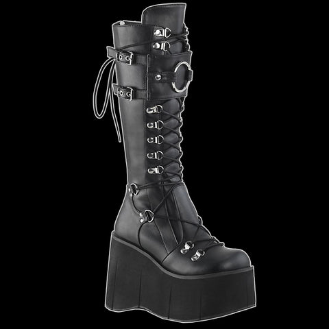 Demonia - Kera 200 Black Vegan leather