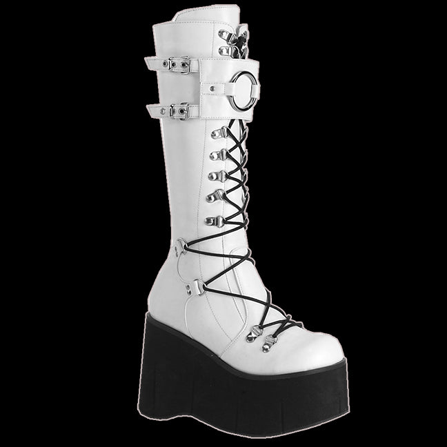 Demonia - Kera 200 White Vegan leather