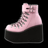Demonia - Pink 2 Buckle Kera Lace Up