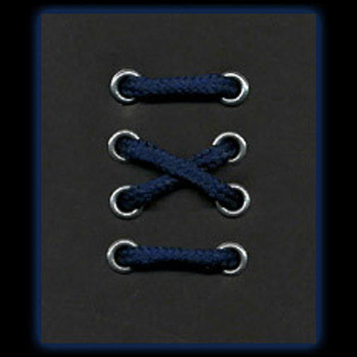 3-4 Eyelet Navy Blue Round Laces (60 cm / 24 in)