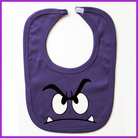 Babysitter's Nightmare - Purple Monster Bib