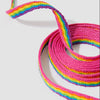 8-10 Eyelet Rainbow Flat Laces (140 cm / 55 in)