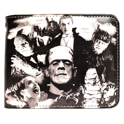 Rock Rebel - Universal Monsters Collage Billfold Wallet