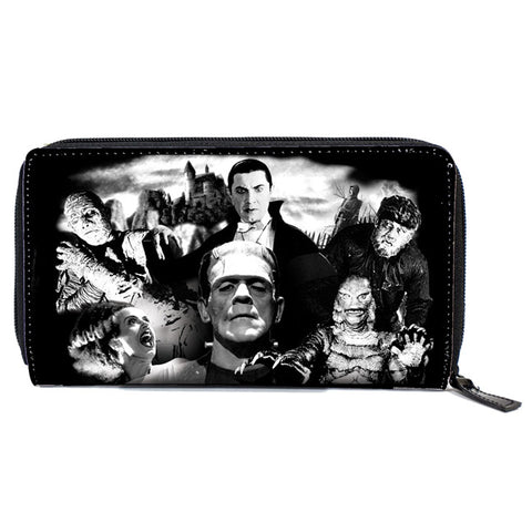 Rock Rebel - Universal Monsters Collage Women's Zip Around Wallet
