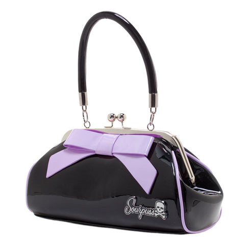 Sourpuss - Floozy Black & Lilac Purse