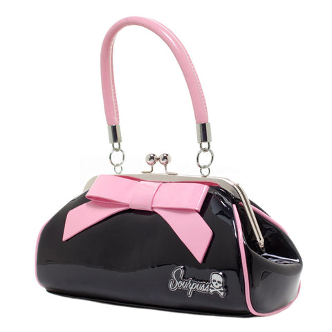 Sourpuss - Floozy Black & Pink Purse
