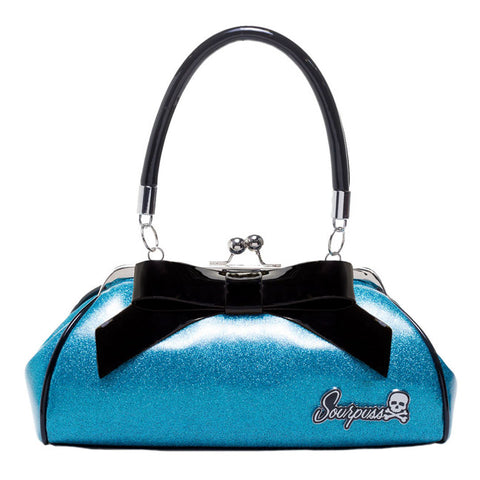Sourpuss - Floozy Turquoise Glitter Purse
