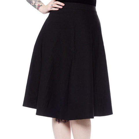Sourpuss - Donna Black Swing Skirt