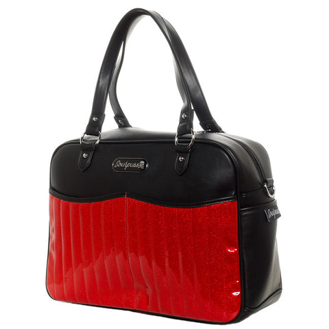 Sourpuss - Red Sparkle Retro Diaper Bag
