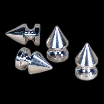 FUNK PLUS - SILVER 1 INCH POTBELLY SPIKE