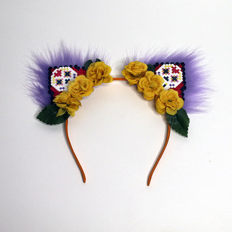 Kandi Kitten Ears Sugar Skull
