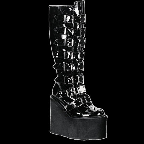 Demonia - SWING-815 BLACK PATENT VEGAN LEATHER