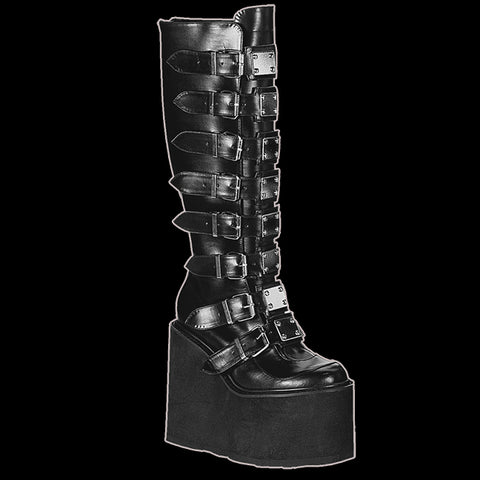 Demonia - SWING-815 BLACK VEGAN LEATHER