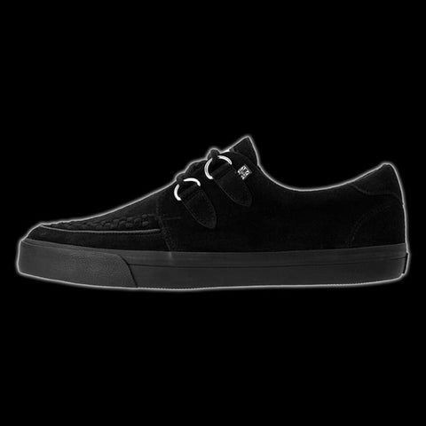 TUK - Black Suede D-Ring VLK Creeper Sneaker Shoe