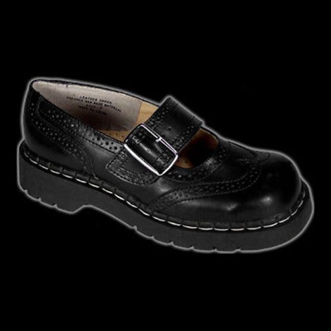 TUK - Black Wingtip Mary Jane Shoe