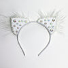 Kitten Ears White Rhinestone