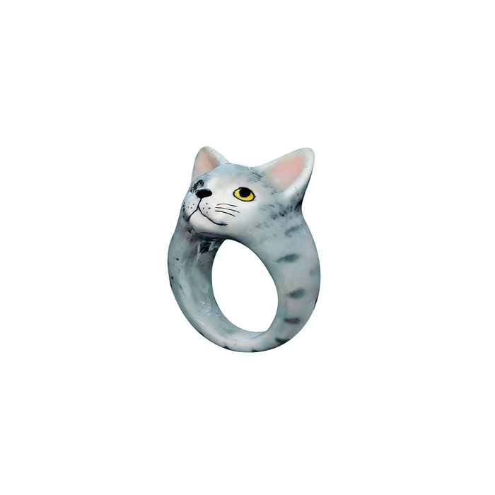 NACH GREY STRIPES CAT RING