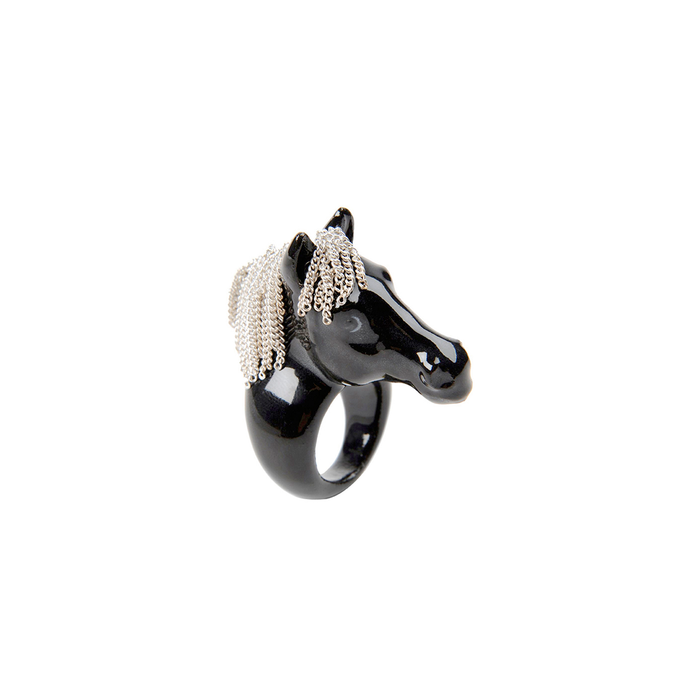 NACH RING BLACK HORSE WITH CHAIN