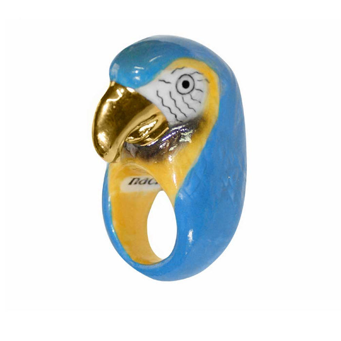 GOLD & BLUE MACAU RING