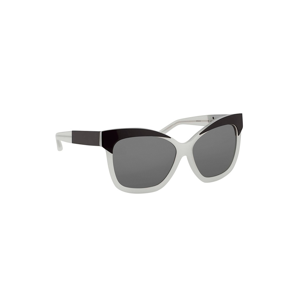 LINDA FARROW FOR SUNO GAFAS SN2C6SUN IVORY/BLACK/SOILD GREY LENS