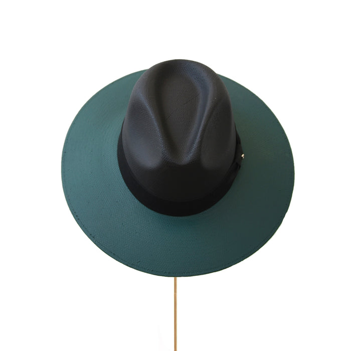 BIURIFUL SOMBRERO TOT COLOR BLACK VERDE LISO