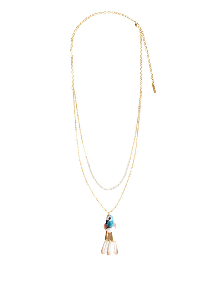 NACH HUMMING BIRD MULTI CHAIN NECKLACE