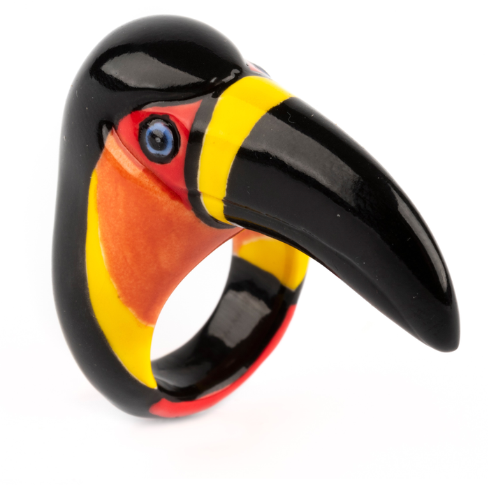 BLACK TOUCAN RING