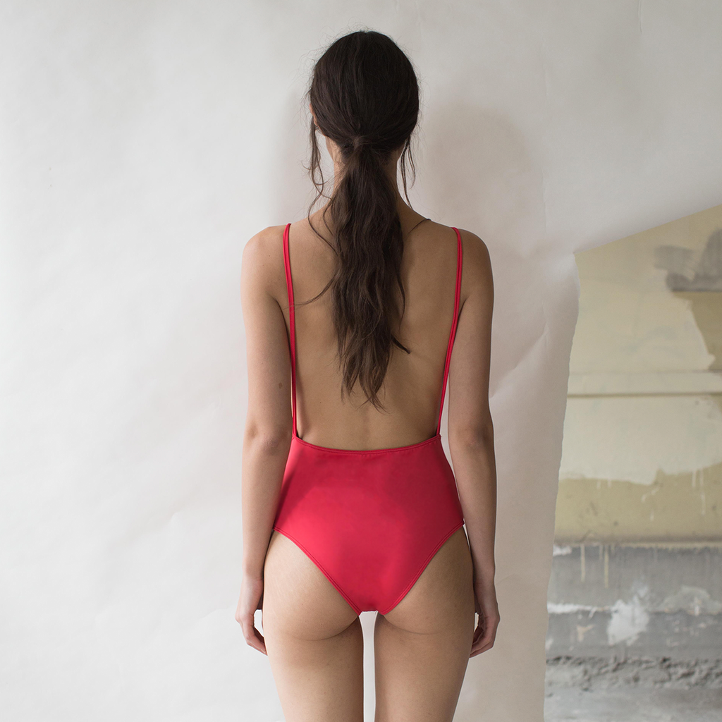 DULCE ARMENTA SWIMWEAR BACKLESS ROJO