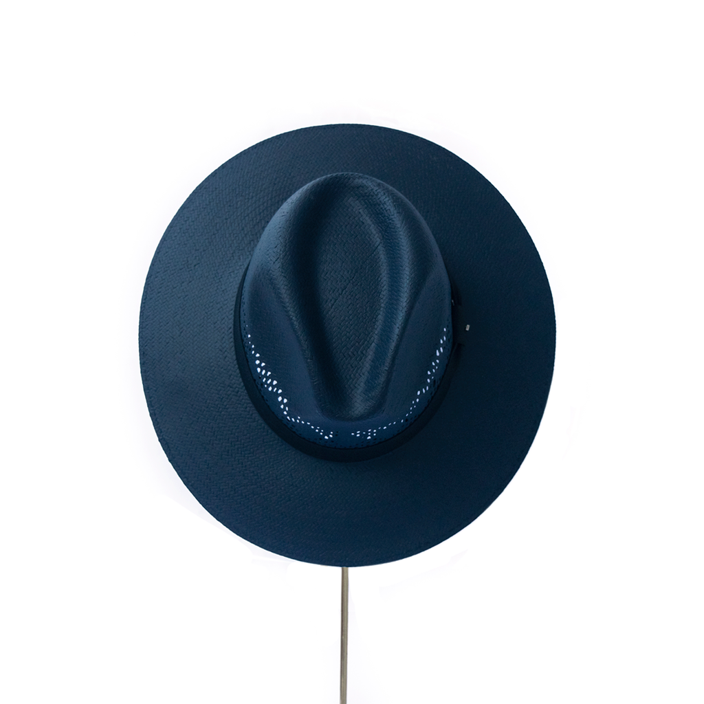 BIURIFUL SOMBRERO TOT COLOR AZUL NAVY CALADO