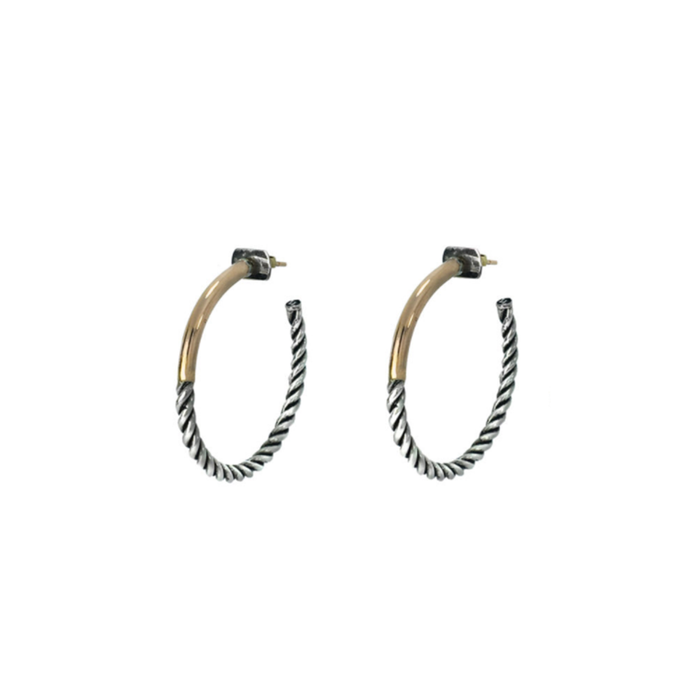 LUCCA LUC - INTERTWINED EMMA HOOPS
