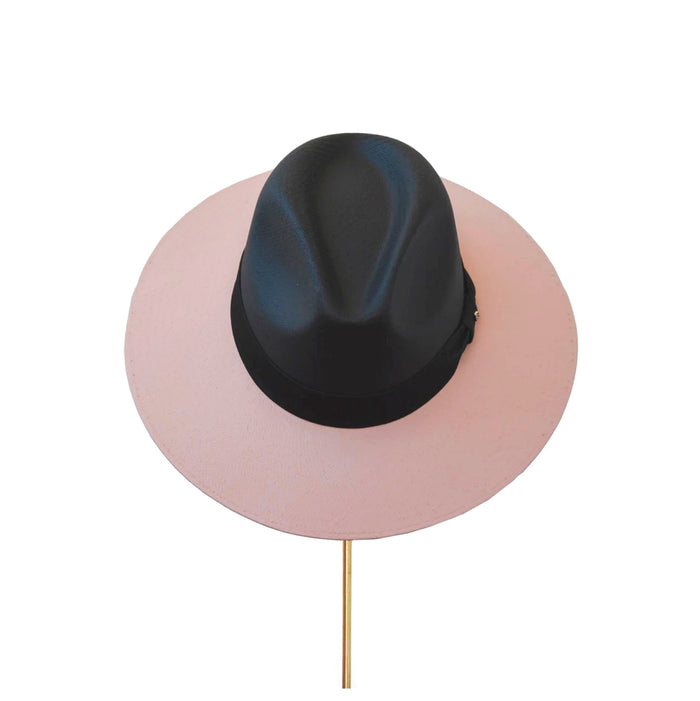 BIURIFUL SOMBRERO TOT COLOR BLACK PIGGLET LISO