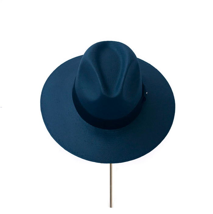 BIURIFUL SOMBRERO TOT COLOR AZUL NAVY LISO