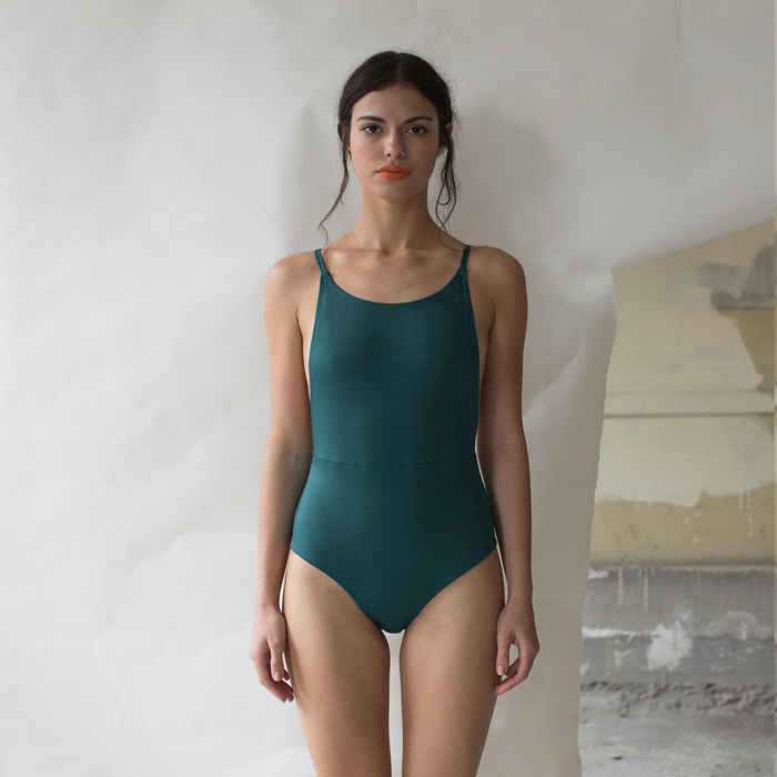 DULCE ARMENTA SWIMWEAR BACKLESS VERDE OBSCURO