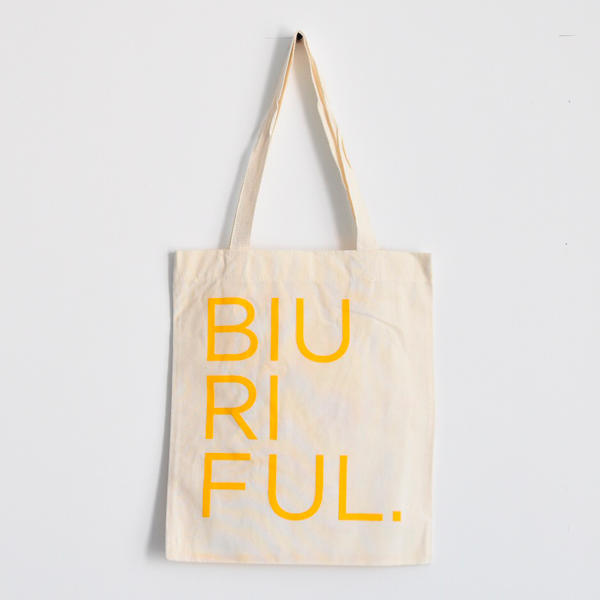 BIURIFUL TOTE BAG YELLOW SUN