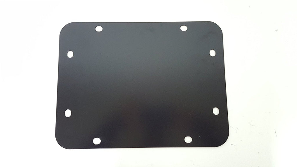 "Jeep Wrangler JK JKU Tailgate Spare Tire Delete Plate 2007-Current Blank Plate ""Tramp Stamp"" BLACK - TireCoverPro"