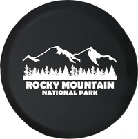 Jeep Wrangler Tire Cover With Rocky Mountain National Park (Wrangler JK, TJ, YJ) White Ink