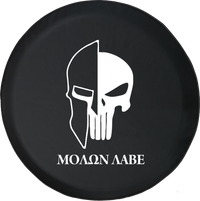 Jeep Wrangler Tire Cover With Punisher Skull Molon Labe (Wrangler JK, TJ, YJ)