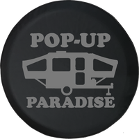 Pop-Up Paradise Popup Camper Offroad Jeep RV Camper Spare Tire Cover H336