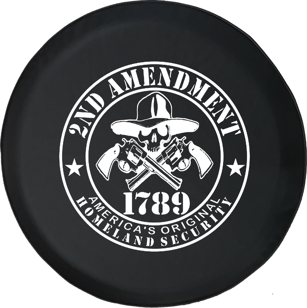 2nd Amendment America's Homeland SecurityOffroad Jeep RV Camper Spare Tire Cover H384