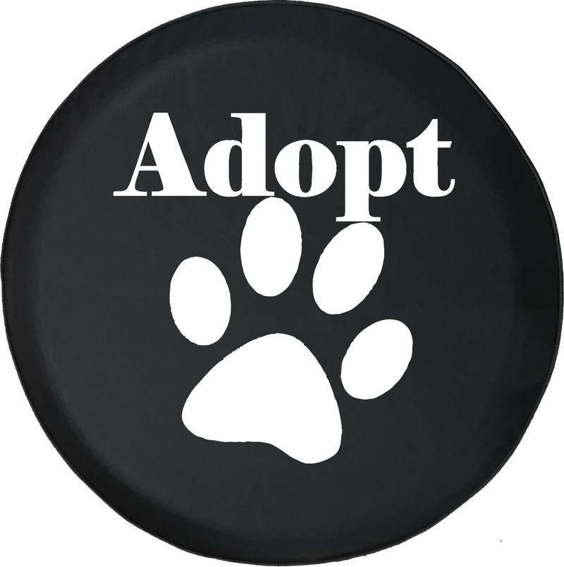 Jeep Wrangler Tire Cover With Adopt Pet Lover Print (Wrangler JK, TJ, YJ)