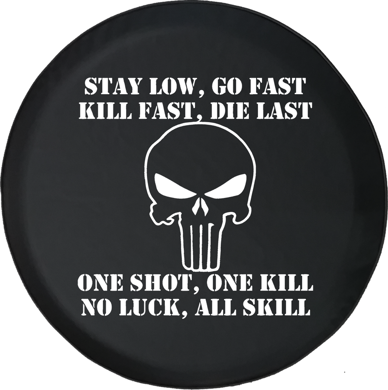 Jeep Liberty Spare Tire Cover With Stay Low Go Fast (Liberty 02-12)