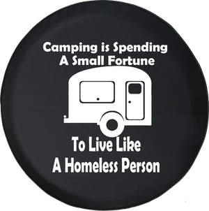 Camping is Spending a Small Fortune Camper Offroad Jeep RV Camper Spare Tire Cover J263 - TireCoverPro