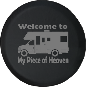 Welcome to My Piece of Heaven Motorhome RV Camping Offroad Jeep RV Camper Spare Tire Cover J271 - TireCoverPro