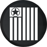 Jeep Wrangler Tire Cover With Tactical Military Star (Wrangler JK, TJ, YJ)