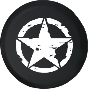 Oscar Mike On Mission Vintage Star Offroad Jeep RV Camper Spare Tire Cover K225