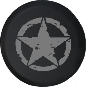 Oscar Mike On Mission Vintage Star Offroad Jeep RV Camper Spare Tire Cover K225 - TireCoverPro