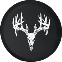 Whitetail Deer Skull AntlersOffroad Jeep RV Camper Spare Tire Cover LV172