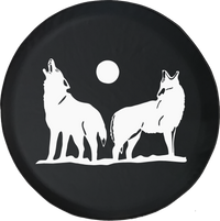 Wolves Howling in the MoonlightOffroad Jeep RV Camper Spare Tire Cover LV180 - TireCoverPro