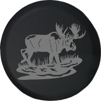 Moose Elk Big GameOffroad Jeep RV Camper Spare Tire Cover LV181