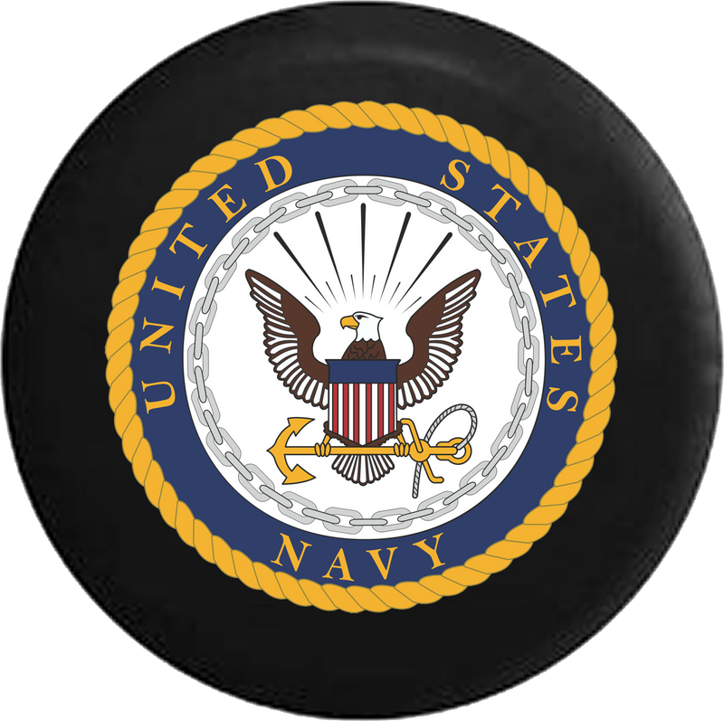 Jeep Liberty Spare Tire Cover With US Navy